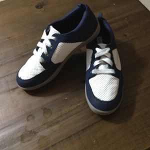 Blue & Black Lace Up Sneakers